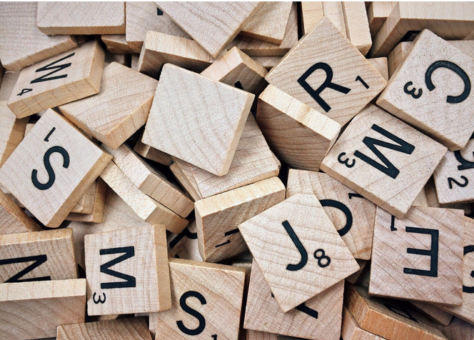 Entropy in password management is important! Picture of scrabble letters